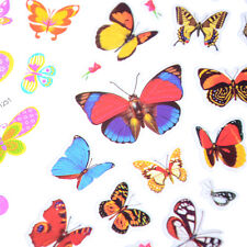 5 Sheets Colorful 3D Butterflies Scrapbooking Bubble Puffy Stickers FT
