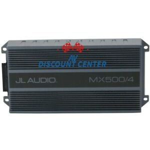 JL AUDIO MX500/4 4-CHANNEL 500W RMS COMPACT MARINE BOAT ATV MOTORCYCLE AMP NEW