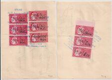 TIMBRES FISCAUX sur 2 QUITTANCES OBERNAI BAS RHIN.1974 et 1975.  L941