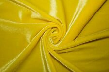 "Lycra Stretch Velvet 90% Polyester 10% Spandex Fabric 55""-56"" Wide BTY"