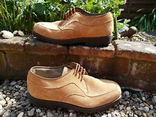 Hush Puppies Mens Nubuck Suede Tan Beige Apron Derby brown shoe size 8 ref3P12
