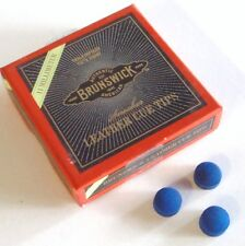Pool Snooker Billiard Table Cue Tips Glue on type 3x 10mm Brunswick Blue Diamond
