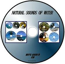 NATURAL SOUNDS OF WATER MP3-CD 9 TRACKS RAIN SEA BROOKS WATERFALLS THUNDERSTORMS