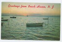 Greetings from BEACH HAVEN NJ Vtg Long Beach Island New Jersey Shore Postcard