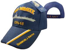 U.S. Navy USS Nimitz CVN-68 Teamwork A Tradition Embroidered Cap Hat 550R