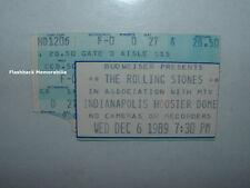 ROLLING STONES 1989 Concert Ticket Stub HOOSIER DOME Indianapolis MTV Rare