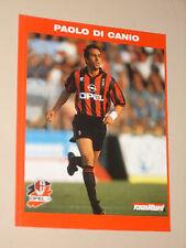MILAN PAOLO DI CANIO 1995/96 CARTOLINA POSTCARD CALCIO UFFICIALE