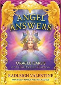 Angel Answers Oracle Cards by Radleigh Valentine (NEW & Sealed)