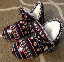 Womens Small 5/6 West Loop Nordic Memory Foam Boot Slippers House Shoes New