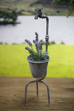 Rustic Tap Spiked Planter Outdoor Decor 60cms BRAND NEW