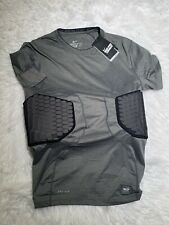 Nike Pro Combat Gray Dri-Fit Compression Padded Football Shirt Men's Size Xxl