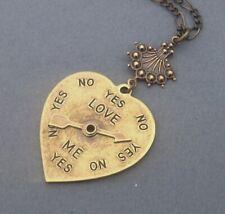 Love Spinner Necklace Vintage Jewelry Art Nouveau Necklace Heart Pendant