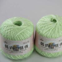 AIP Thread No.8 Cotton Crochet Yarn Craft Tatting Hand Knit Shawl Lace 50grX2 05