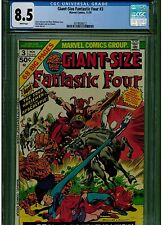 GIANT SIZE FANTASTIC FOUR  #3 CGC 8.5 WHITE PAGES 1ST APPEARANCE OF 4 HORSEMAN