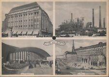 Tönende Ansichtskarte BOCHUM mit 'Bochumer Jungenlied' 50er Jahre