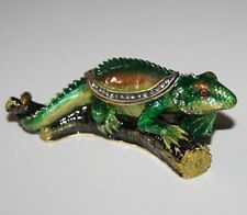 LIZARD On Branch Trinket Box / Ornament Gift *NEW* Boxed