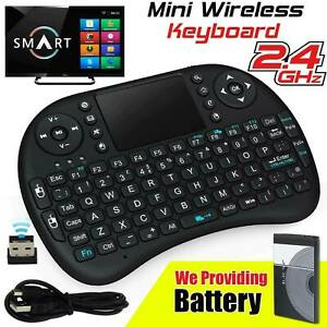 Mini Portable Wireless Keyboard Touchpad For Android Smart TV Box PC Laptop UK