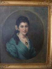 1900-1949 Originalgemälde (1800-1899) mit Öl auf Porträt & Person