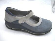 Dansko Hook and Loop 39 8M blue suede Mary Janes womens flats shoes 40377202
