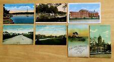 Lot of 7 Antique & Vintage Postcards ALL DANVILLE, IL Illinois