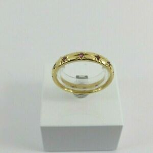18ct Gold Ruby Eternity Ring Full Hallmarked Size P with Gift Box