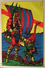 The Viking Houston Blacklight Vintage Poster Psychedelic 1970 Original 70s UV