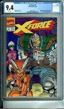 X-FORCE 1 CGC 9.4 WHITE PAGES WRAPAROUND COVER NEGATIVE UPC CODE NEW CGC CASE