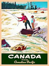 Canada Travel Canadian Pacific Vintage Travel Advertisement Art Poster Print