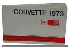 1973 OWNERS MANUAL C3 CORVETTE - OPERATIONS MANUAL - NEW - WE SHIP WORLD WIDE -