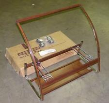 "Vintage Gusdorf Chrome Faux Wood Rolling Stand - Intended for a 23-25"" Analog TV"