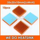 10pcs 35x35x10mm Heat Sink Heasink Yellow Slotted w/ Adhesive Tape, Cheap price