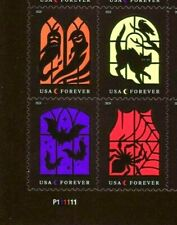 US 2019 HALLOWEEN SCOTT 5420-23 SPOOKY SILHOUETTES MNHVF FOREVER STAMP BLOCK SET