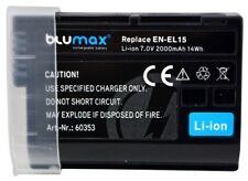 Battery Battery for Nikon EN-EL15, EN-EL10, Casio NP-80, NP-82 blumax