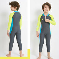 Dive&Sail Dark Long Sleeve Wetsuit Kids One Piece Swimsuit Diving Suit Boys E2F8
