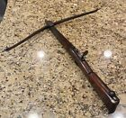 Antique Stone Throwing Crossbow 1700s English Bullet
