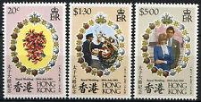 Hong Kong 1981 SG#399-401 Royal Wedding MNH Set #R164