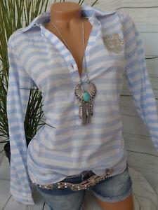 Arqueonautas Bluse Blau Weiß gestreift Shirt Gr. XS und L (398) NEU