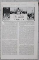 1901 PRINT 1st JUNE ARTICLE NAVIES & ARMIES PORTUGUESE CYCLISTS ~ WAR MEDALS