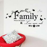 Family Spruch Wandsticker Zitat Wandtattoo Sprüche Familie Wandaufkleber Sticker