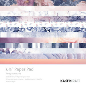 Kaisercraft Misty Mountains Collection 6.5 x 6.5 Paper Pad
