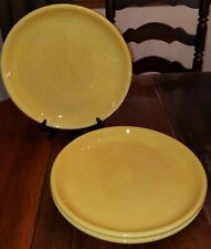 "POTTERY BARN SET OF 3 COLORFUL SERVE YELLOW 12"" DINNER PLATE REPLACEMENTS"