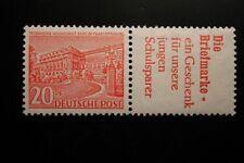 Berlin postfrisch Mi.Nr. W17 geprüft 20 Pfennig Bauten-Zusammendruck 1952