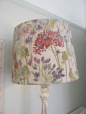 Handmade Tapered Drum Lampshade 40cm Voyage Hedgerow Linen fabric