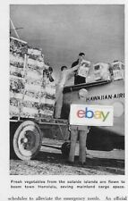 HAWAIIAN AIRLINES LTD HAWAII USA 1943 SIKORSKY S-43 AIR CARGO OPERATION ARTICLE