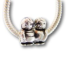 Boys Brothers Sons Twins Best Friend Silver European Charm Bead fit for bracelet
