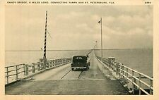 Florida, Fl, Connecting Tampa & St Petersburg, Gandy Bridge 1940's Postcard