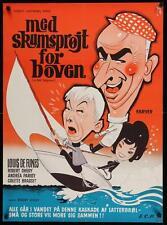 LE PETIT BAIGNEUR LITTLE BATHER Danish A1 movie poster LOUIS DE FUNES 68 RARE
