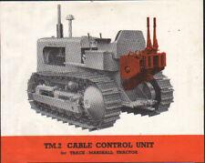 Marshall-Fowler TM. 2 Câble unité de contrôle montés sur piste-MARSHALL brochure