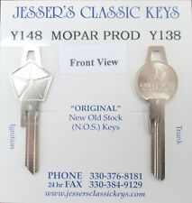 MOPAR NOS '66 Original Key Set CHRYSLER 300 PLYMOUTH DODGE DESOTO 1966