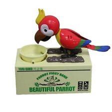 Electric Eat-Money Parrot Bird Piggy Bank Saving Money Box Random Color